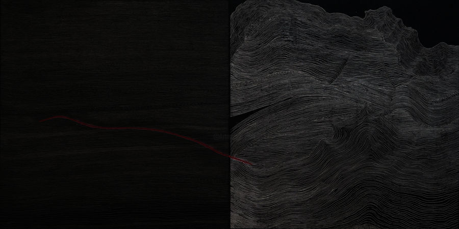 Suo Yuan WANG - Red Line-composition n°1