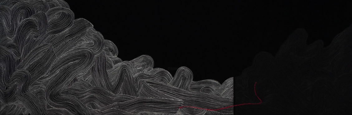 Suo Yuan WANG - Red Line-composition 5